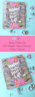 things to do with washi tape easy 5 minute diy washi tape planner clips tutorial