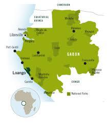gabon in world map africas destinations gabon