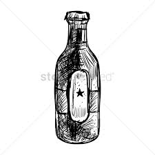 beer bottle cartoon bottle of german beer vector image 1977021 stockunlimited