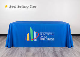 trade show table runner table covers order your custom tablecloth totallypromotional com