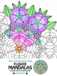 mandala coloring flower garden instant download