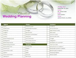 preparation of event plan for wedding ms word wedding planning checklist office templates online