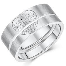 promise rings uk titanium lover s heart pair couples anniversary promise rings