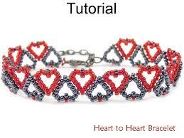 beaded heart bracelet images Heart to heart bracelet beading pattern simple bead patterns jpg
