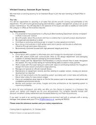 Job Resume Set Up by Associate Buyer Resume Resume For Your Job Application