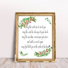 wedding quotes road blessing may the road typography calligraphy wedding