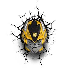 bumblebee 3d light fx deco led wall nightlight transformers