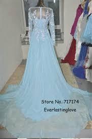 aliexpress com buy pretty mint blue chiffon long sleeves prom