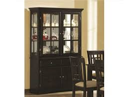 wooden dining room hutches with black color finish home interior