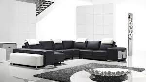 canap d angle cuir noir et blanc canapés d angle cuir mobilier cuir
