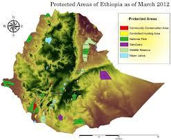 Map Of Ethiopia Ethiopia Wildlife