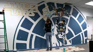 star wars mural timelapse youtube
