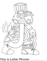 brilliant beginnings preschool letter person j coloring page