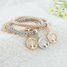 bracelet life images 3 set of quot tree of life quot bracelets with austrian crystals jpg