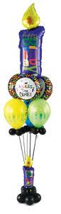 the hill balloon bouquet holy cow birthday tower balloon columns cow birthday