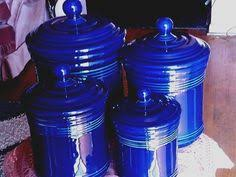 cobalt blue kitchen canisters cobalt blue ceramic canister set made in italy italian kitchen