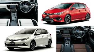 auris toyota auris hybrid and 120t rs package launched in japan