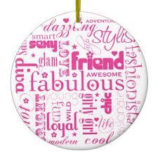 pink bff ceramic ornament zazzle