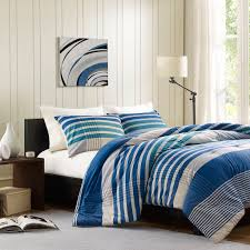 Twin Xl Bedding Sets For Guys Amazon Com Ink Ivy Connor 3 Piece Comforter Set Full Queen Blue