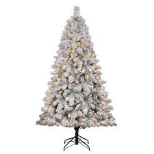 home heritage cascade 7 pine white flocked artificial