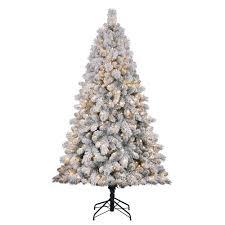 flocked artificial tree ebay