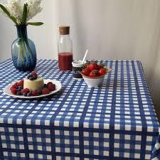 nappe en coton enduit nappe coton enduit guinguette bleu carrée 160x160 fleur de soleil