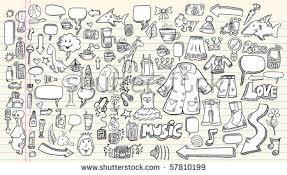 mega doodle sketch drawing vector element stock vector 81229477