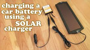 how to charge a car battery tender solar charger charging