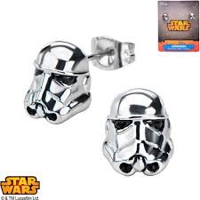 wars earrings disney stainless steel wars 3d stormtrooper stud earrings