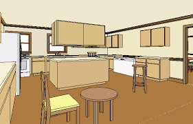 kitchen gif front hall and kitchen