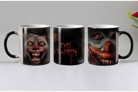 halloween scary joker heat reveal mug ceramic color changing