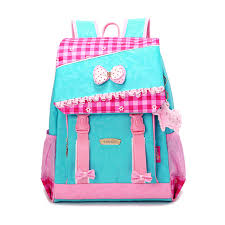 book bags with bows school backpack korean style bowknot kids pink bag wateproof