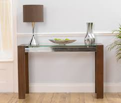 glass top sofa table slim console tables that will add the sophistication of your living