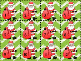 december santa themed calendar numbers by jumping into 2nd tpt
