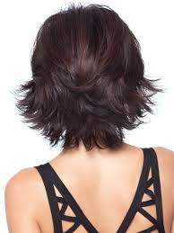 short hair with shag back view allure by hair layered medium hair back view