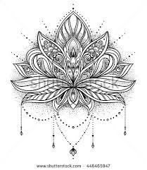flower indian pencil and in color flower indian