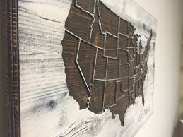 United States Map Wall Art by Rustic United States Map Wood Map Wall Art Carved Us Map