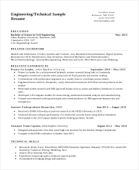 Resume Examples For College Students Engineering by 7 Engineering Resume Template Free Word Pdf Document Downloads