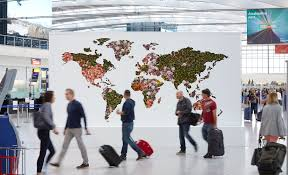 Giant Map Timelapse Heathrow Unveils Map Of The World Made From Fresh