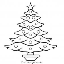 print christmas tree coloring pages printable coloring pages