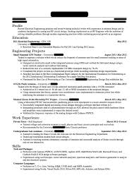 Electrical Testing Engineer Resume Electrical Engineer Fresher Resume