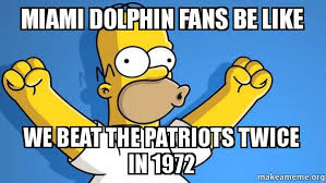 Miami Dolphins Memes - miami dolphin fans be like we beat the patriots twice in 1972