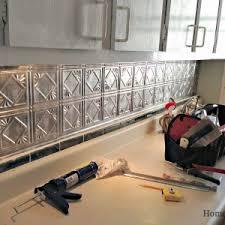 decor u0026 tips affordable tin backsplash for decorating kitchen