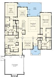 dual master bedroom floor plans dual master suite energy saver 33093zr architectural designs