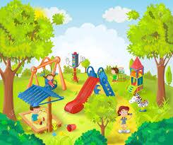 children in the park vector illustration royalty free