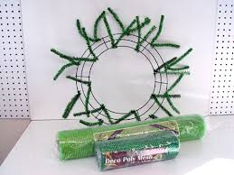 wreath supplies st s day wreath using a work wreath lime green wide foil