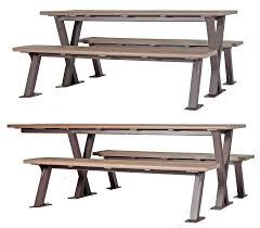 bayview picnic table wishbone site furnishings
