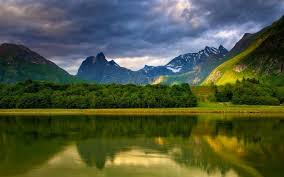 nature mountain landscape trees reflection exotic wallpapers