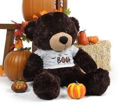 brownie cuddles giant halloween teddy bear in a spooky boo bear t
