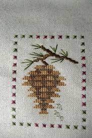 s tree sal pinecone prairie schooler cross stitch